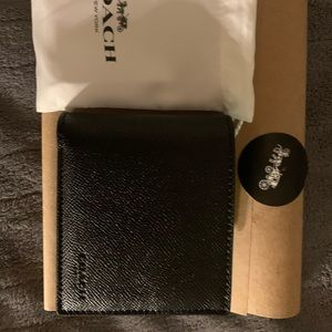 Men's Coach Black Leather Wallet 3/1. Never used